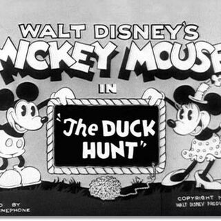 <i>Title card</i> de <i>The Duck Hunt</i>.