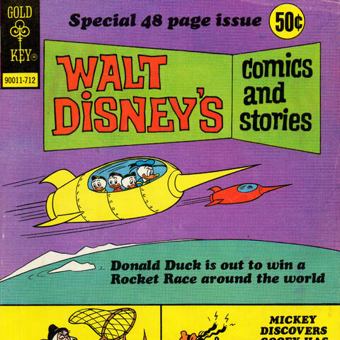 Couverture de <i>Walt Disney's Comcis and Stories</i> n°447 illustrant cette histoire.