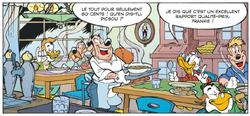 Picsou satisfait de son repas chez Frankie