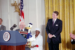 Donald Duck avec Ronald Reagan