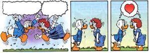 Première rencontre Rodolphe Duck et Hortense Picsou