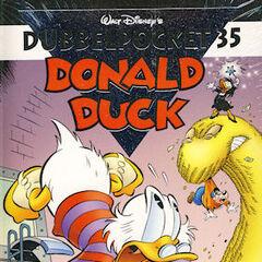 Couverture de la revue néerlandaise <i>Dubbel Pocket Donald Duck</i> n°35 du 24 décembre 2009 illustrant l'histoire. Elle est dessinée par <a href=