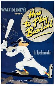 Affiche de Dingo joue au base-ball
