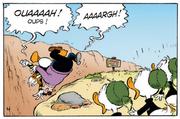 Une chute dans le ravin pur Donald et Lagrogne
