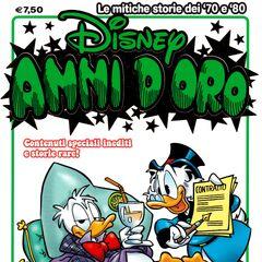 Couverture de la revue italienne <i>Disney Anni D'Oro</i> n°29 de novembre 2013 illustrant ce récit. Elle est dessinée par <a href=