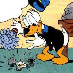 Donald dessiné par Carl Barks en 1949 pour l'histoire <i><a href=