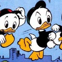 Riri, Fifi et Loulou dessinés en 1946 par <a href=