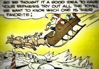 Le père Noël sur son traîneau
