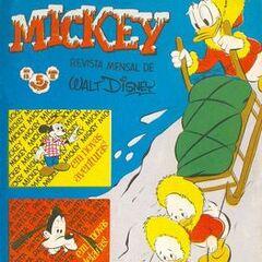 Couverture du magazine brésilien <i>Mickey</i> n°13 dessinée par Alvaro de Moya.