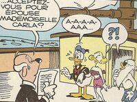 Mariage de Carla et Donald Duck