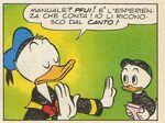 Donald et l'un des neveux par Carlo Gentina