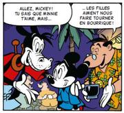 Amis de Mickey le réconfortent après le faux-bond de Minnie