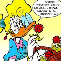 Miss Frappe dessinée par Ettore Gula.