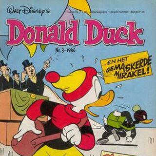 Couverture du magazine néerlandais <i>Donald Duck</i> n°1986-03 de 1986, réalisée par <a href=