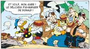 Donald présente son fishburger à Zinedine Quidor