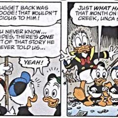 Donald ramassant et lâchant une souris.