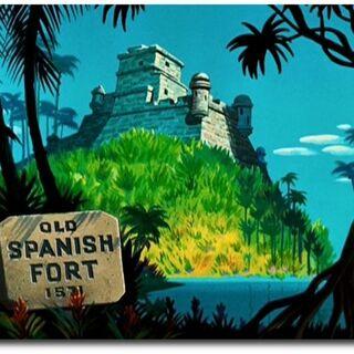 Le Old Spanish Fort, vestige de l'arrivée des <a href=