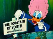 Panneau La fontaine de Jouvence de Donald