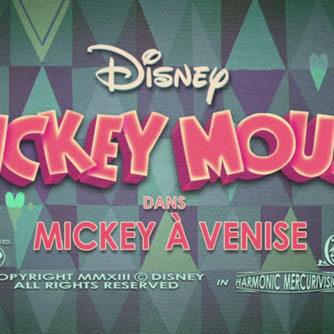 Le <i>title card</i> de <i>Mickey à Venise</i>.