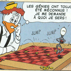 Géo avec Filament dessinés par Carl Barks dans <i><a href=