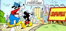 Mickey et Dingo arrivent à Crapauville