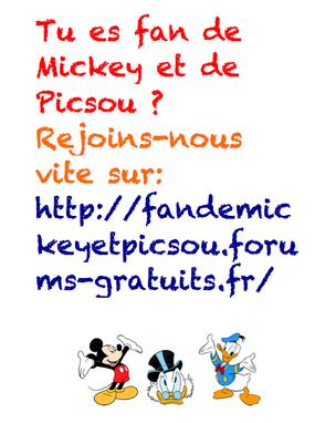 Publicité pour le forum