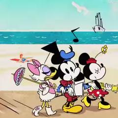 Finalement, Minnie Mouse et Daisy Duck décident de ne pique-niquer qu'avec Mickey...