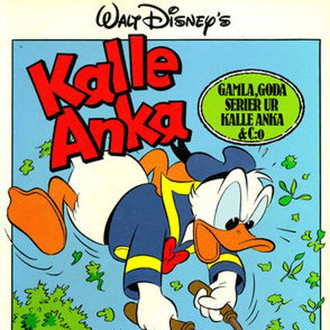 Couverture de la revue suédoise <i>Kalle Ankas Bästisar</i> n°15 illustrant l'histoire et dessinée par <a href=