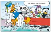 Donald manque d'air à cause de Loulou et doit remonter à la surface
