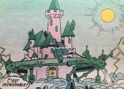 Château médiéval Le château des nuées