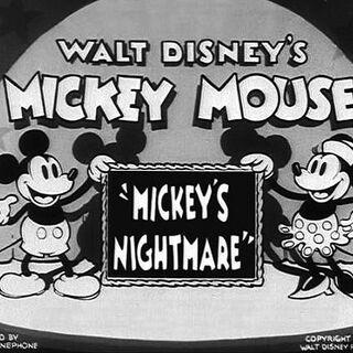 Le <i>title card</i> de <i>Mickey's Nightmare</i>.