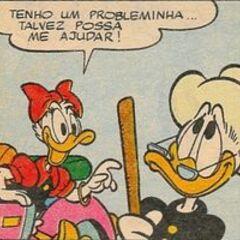 Daisy avec Grand-mère Donald, dessinées par <a href=