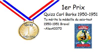 Médaille or 1950-1951