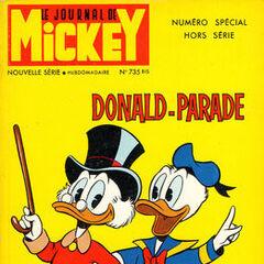 Deuxième numéro du <i>Mickey Parade</i> bis paru le 26 juin 1966, qui porte le numéro 735.