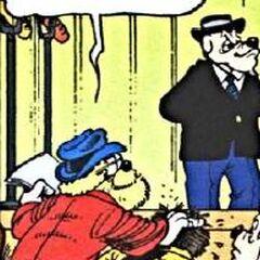 Le mystérieux professeur écrasant son voisin.