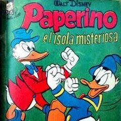 Couverture de <i>Albi della rosa / Albi di Topolino</i> n°69 illustrant l'histoire et dessinée par <i>Ambrogio Vergani</i>.