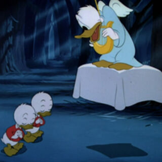 Donald transformé en ange.
