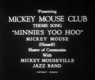"Chanson ""Minnie's Yoo Hoo"", Mickey Mouse"
