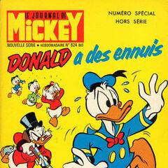 Septième numéro du<i> Mickey Parade</i> bis paru le 10 mars 1968, qui porte le numéro 824.