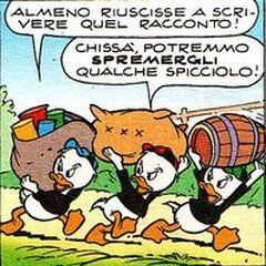 Riri, Fifi et Loulou dessinés par <a href=