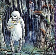 Peinture de Carl Barks Bombie le zombie