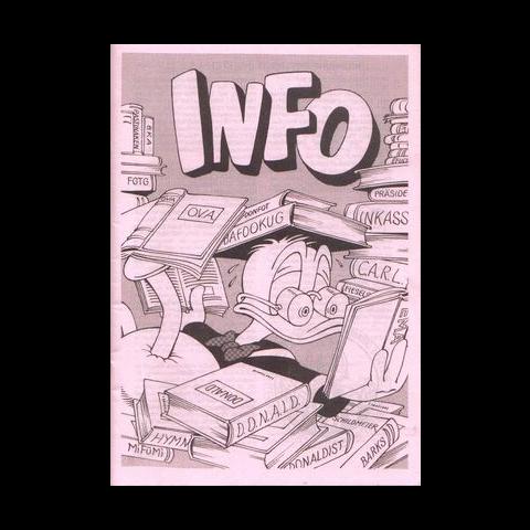 Couverture du magazine allemand spécial <i>INFO</i>, réutilisant une case de Carl Barks. Cette couverture a été utilisée deux fois, dans les deux seuls magazines parus en 2007 et 2012.