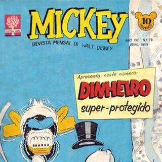 Couverture de la revue brésilienne <i>Mickey</i> n°78 illustrant l'histoire et crayonnée par <a href=