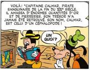 Mickey trouve une biographie du capitaine Calmar dans l'encyclopédie