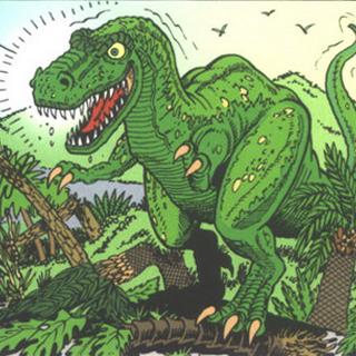 Le tyrannosaure, roi des reptiles tyrans.