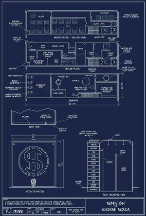 Plan du dépôt de Balthazar Picsou 1