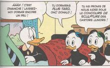 Riri, Fifi et Loulou reveillent Donald