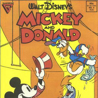 Couverture du <i>comic book Mickey and Donald</i> n°4 où est parue pour la quatrième fois l'histoire aux États-Unis.