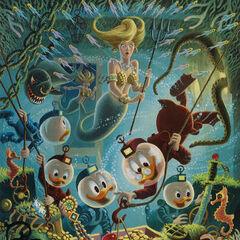 Peinture à l'huile réalisée par Carl Barks en 1985.