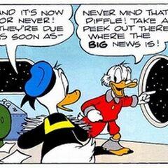 Picsou et Donald dans l'histoire <i>Astres et désastres astronomiques</i> de <a href=